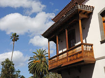 Traditional Balcony in Gran Canaria Stock Image