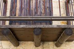 Traditional balcony in the mountain village of Lofou, Cyprus Stock Image