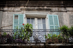 Traditional balcony, New Orleans Royalty Free Stock Photos