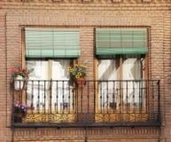 Traditional balcony in toledo, spain Stock Photo
