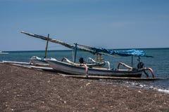 Traditional Bali Fishermen Boat Stock Photography