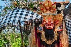 Traditional Balinese Barong. Traditional Barong. Bali island protective hindu spirit at ceremony Melasti and ritual temple dance before Balinese New Year royalty free stock photography