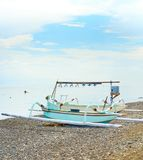 Wooden Bali fishing boats Royalty Free Stock Images