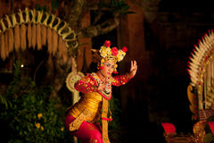Traditional Balinese dance Legong and Barong Stock Photos