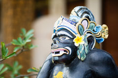 Traditional Balinese God statue in Ubud temple Stock Photography