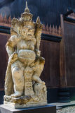 Traditional balinese guard statue Stock Photo