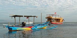 Traditional balinese jukung on Pemuteran Beach Royalty Free Stock Photography