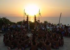 Traditional Balinese Kecak dance Royalty Free Stock Photo