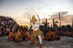 Traditional Balinese Kecak Dance Stock Image