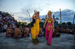 Traditional Balinese Kecak Dance Royalty Free Stock Photos
