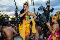 Traditional Balinese Kecak Dance Royalty Free Stock Images