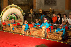 Traditional Balinese Legong and Barong dance Royalty Free Stock Photography