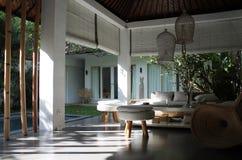 Modern Balinese livingroom Royalty Free Stock Images