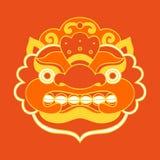 Traditional balinese mask. Barong. Vector EPS 10 hand drawn illustration royalty free stock photo
