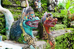 Traditional balinese monster secure the gate of temple Royalty Free Stock Photo