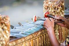 Traditional Balinese music instrument. Gamelan stock photo