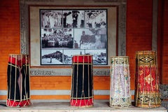 Traditional balinese music instruments, Ubud, Bali Stock Photography