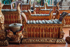 Traditional balinese music instruments, Ubud, Bali Stock Photos
