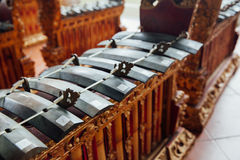 Traditional balinese music instruments, Ubud, Bali Royalty Free Stock Images