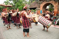 Traditional Balinese Music Parade at Ubud Royalty Free Stock Photos