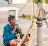 Traditional Balinese Musicians Performing at GWK stock photo