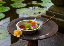 Traditional balinese offerings Royalty Free Stock Photo