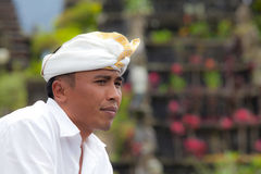 Traditional Balinese pilgrim Royalty Free Stock Image