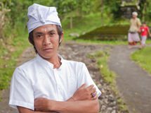 Traditional Balinese pilgrims Stock Photos