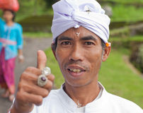 Traditional Balinese pilgrims Royalty Free Stock Image