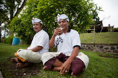 Traditional Balinese pilgrims Stock Photography