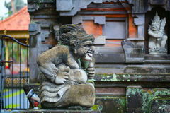 Traditional Balinese sculpture in Ubud Royalty Free Stock Images