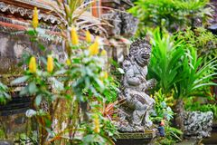 Traditional Balinese sculpture in Ubud, Bali Royalty Free Stock Image