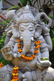 Traditional Balinese sculpture in Ubud. Traditional Balinese sculpture of Ganesha, the elephant god, in Ubud, Bali, Indonesia Royalty Free Stock Images