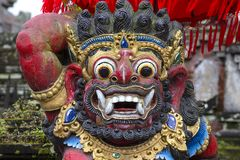 Traditional Balinese statue of Barong on a street temple in Bali, Indonesia Stock Image