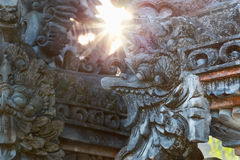 Traditional Balinese stone garuda sculpture Stock Photography