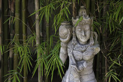 Traditional Balinese stone sculpture art Royalty Free Stock Photo