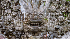 Traditional Balinese stone sculpture art and culture at Bali, Indonesia Stock Photo