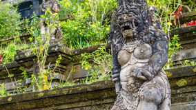 Traditional Balinese stone sculpture art and culture at Bali, Indonesia stock photography