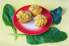 Balkan cuisine. Proja - bread from corn and chard - with chard leaves blitva stock photo
