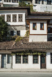 Traditional balkan houses in old town of berat albania Stock Images