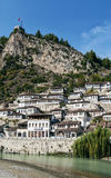 Traditional balkan houses in old town of berat albania Stock Image