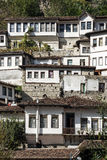 Traditional balkan houses in old town of berat albania Royalty Free Stock Photography
