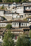 Traditional balkan houses in old town of berat albania Stock Photo