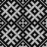 Traditional Baltic knitting pattern Royalty Free Stock Photos