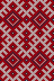 Traditional Baltic knitting pattern Royalty Free Stock Images