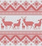 Traditional baltic, scandinavian, slavic folk embroidery Cross stitch pixel ornament Royalty Free Stock Image