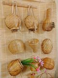 traditional bamboo baskets stock photography