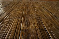 Traditional bamboo flooring Stock Photography