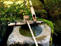 Traditional Bamboo Fountain. In Japan Royalty Free Stock Photo