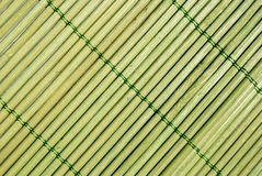 Traditional bamboo pad texture Stock Image